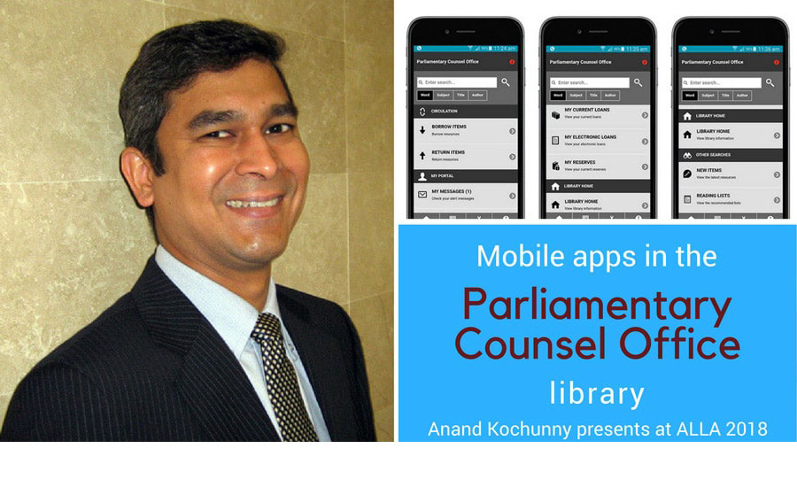 Mobile apps in the Parliamentary Counsel Office library
