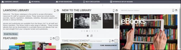 Liberty Homepage example