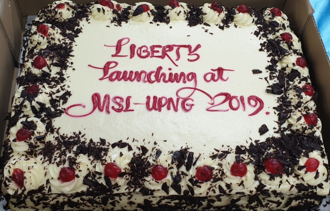 Liberty Launch at Papua New Guinea University's Michael Somare Library Makes the National News