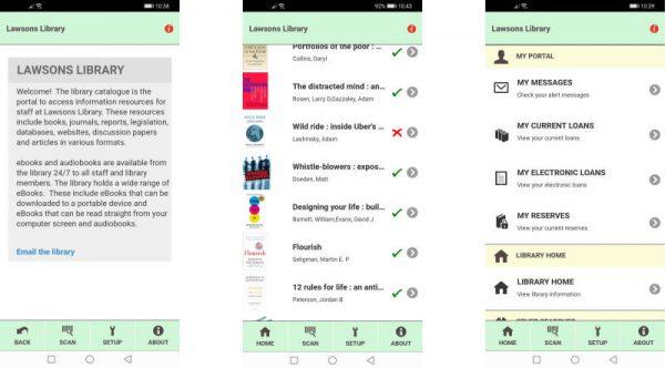 Liberty Link Mobile app screenshots